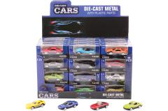 Super Cars 2.6 inch die-cast car 12 assorted in display