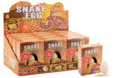 Glow in the dark snake excavation-egg, 4 assorted