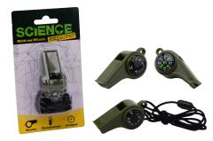Science Explorer Multi-use whistle on card